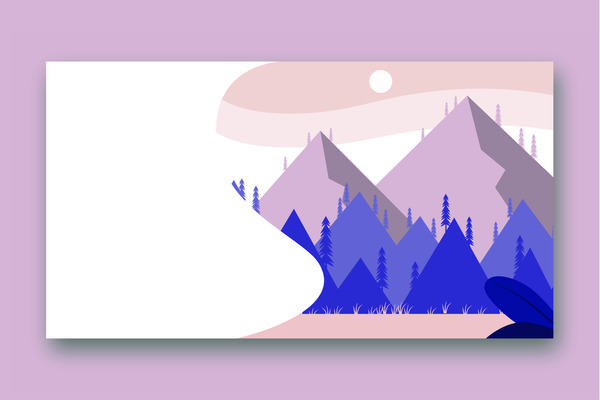 Mountains and a forest