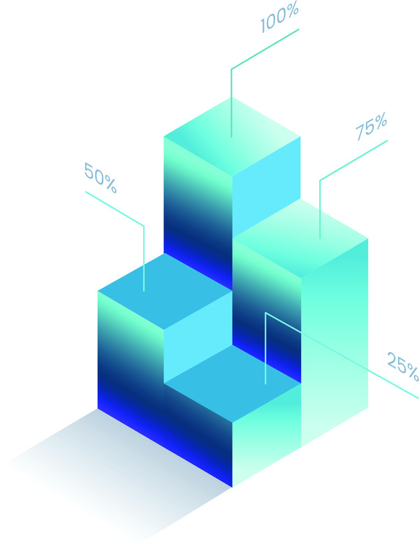 Infographic 3d chart