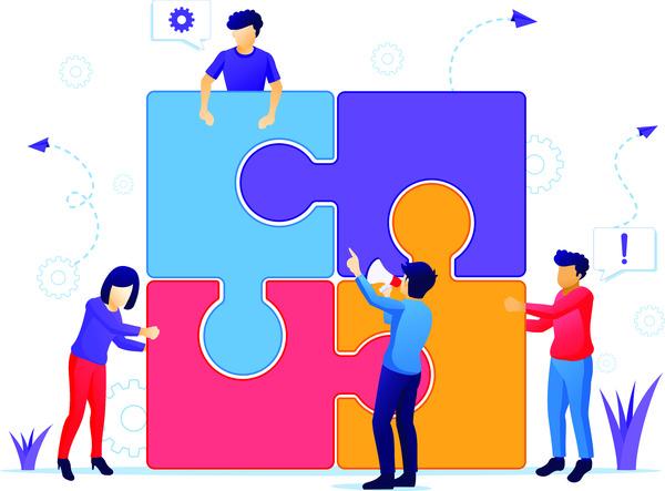 Team solving puzzle